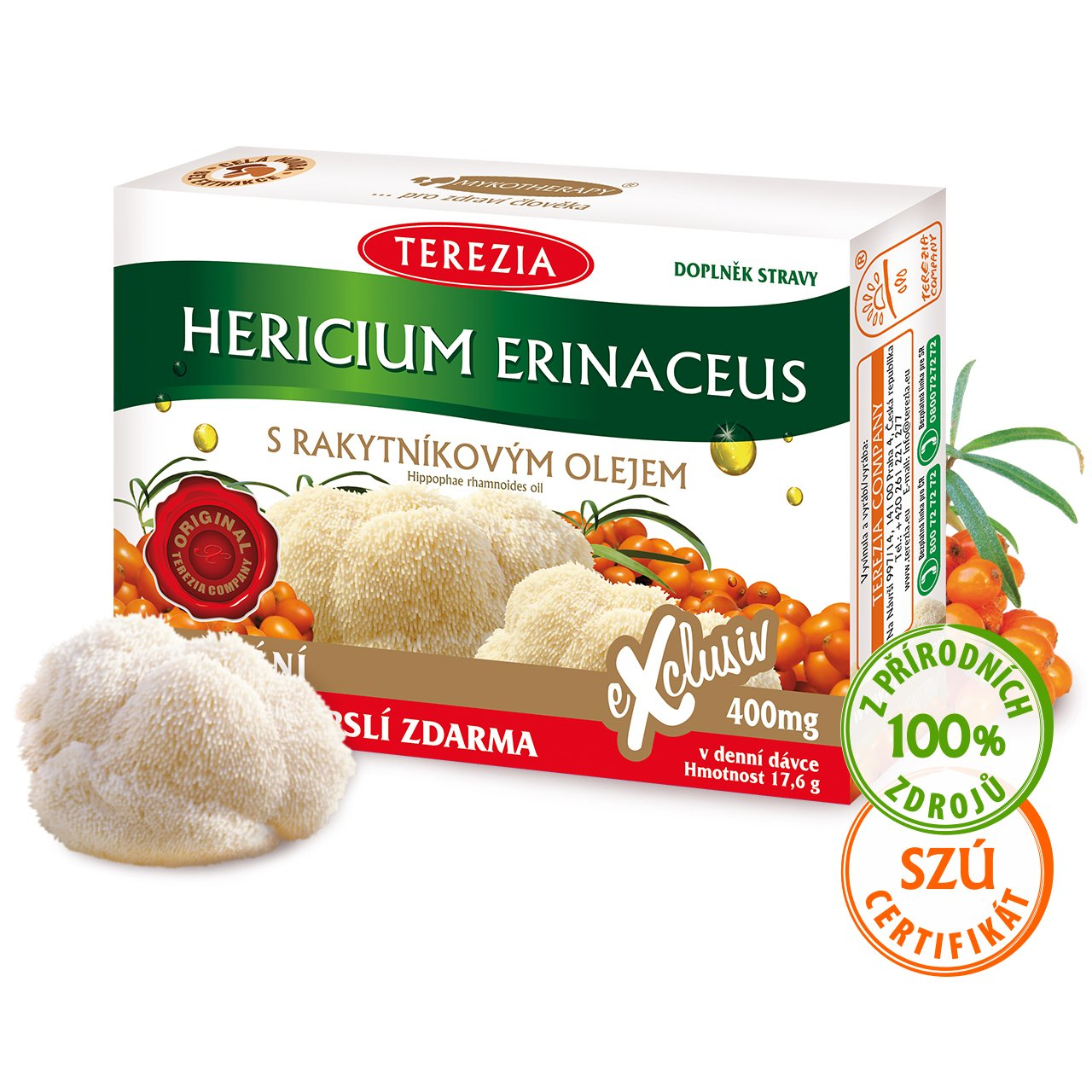 Levně Hericium erinaceus s rakytníkovým olejem