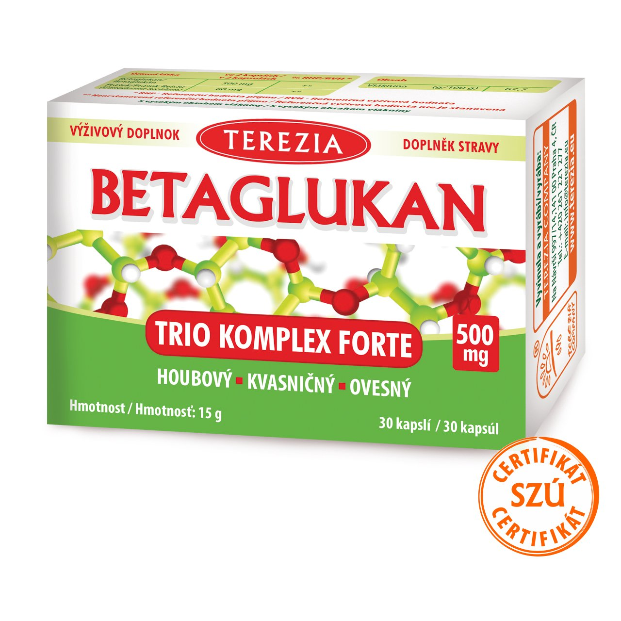 Levně BETAGLUKAN Trio Komplex Forte 500 mg